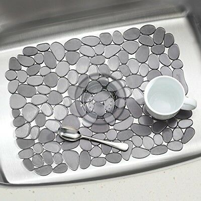 Interdesign Sink Mat Pebble 12 X 15.5 Gray