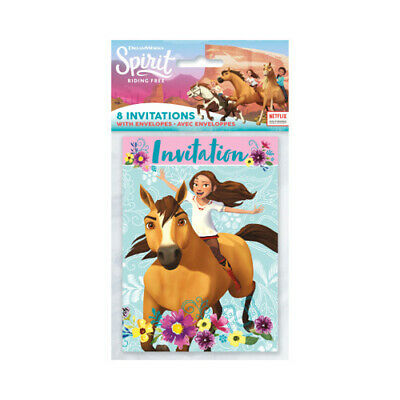 - SPIRIT RIDING FREE INVITATIONS (8) ~ Birthday Party Supplies Stationery Cards