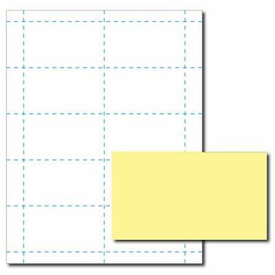 Canary Yellow Business Card Printer Paper 25 Sheets Yields 250 Cards