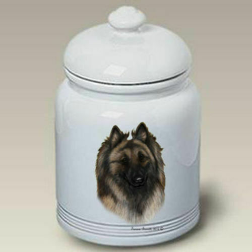 Belgian Tervuren Ceramic Treat Jar TB 34083