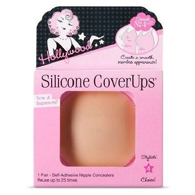 Hollywood Fashion Secrets Silicone Nipple CoverUps 1 Pair Medium Skin Tone