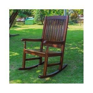 Porch Rocking Chair Furniture Patio Wooden Deck Indoor