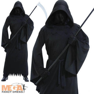 Phantom of Darkness Halloween Grim Reaper Robe Mens Fancy Dress Adult Costume - Phantom Of Darkness Costume