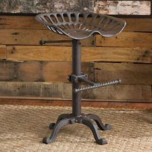 Vintage Tractor Seat Bar Stool Rustic Cast Iron Style