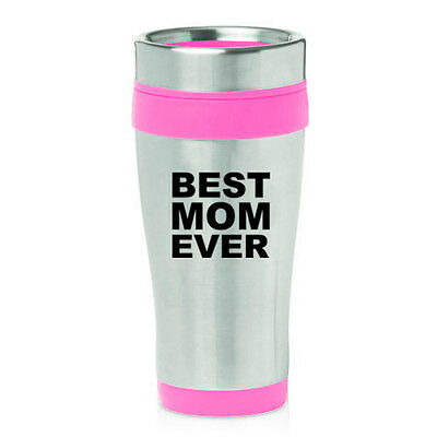 Stainless Steel Insulated 16oz Travel Mug Coffee Cup Best Mom