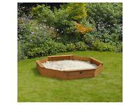 Plum large octagonal sand pit. Excellent condition