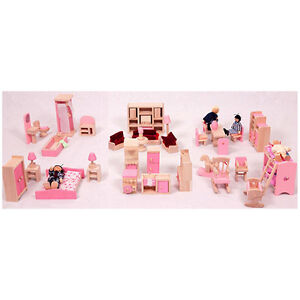 BRAND-NEW-DOLL-HOUSE-FURNITURES-FULL-SET-OF-6-ROOM-FURNITURES-FAMILY-DOLLS