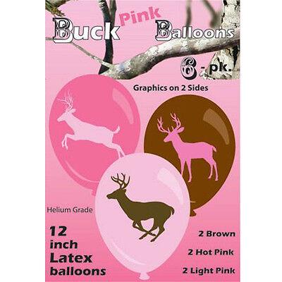 Pink Jagd Camo Hirsch 6 (pro Packung) Helium Hochwertige Latex Ballons (Camo Ballons)