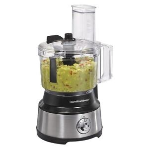 Hamilton Beach Bowl Scraper Food Processor  - 10 Cup (Black/Silver)