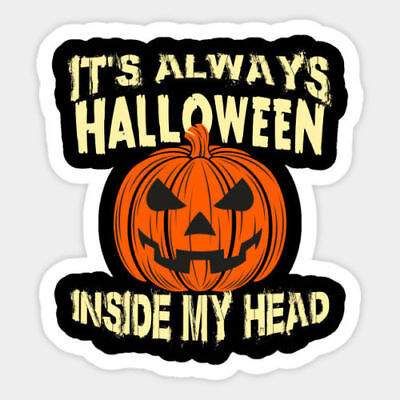 Halloween pumpkin Vinyl Wall Bumper Bottle Phone Decal Decor Sticker Quote - Halloween Wall Decorations