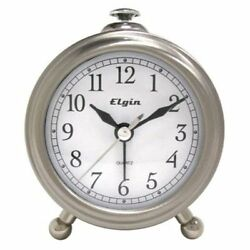 TIMEX Elgin Bedside Alarm Clock , New, Free Shipping