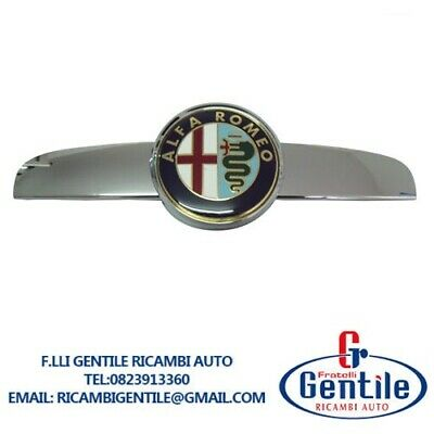 Alfa Romeo 159 Friso Delantero Cromado Con Bigotes / Logo / Armas...