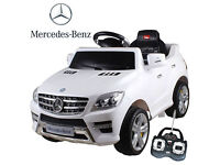 Ride on Licensed Mercedes ML350 6V Electric Kids Car With Remote White