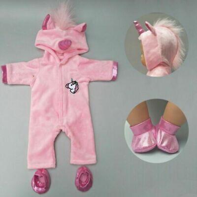 Puppe Baby Mantel Einhorn Set 40cm Weihnachten Kleidung - Weihnachten Outfits Für Babys