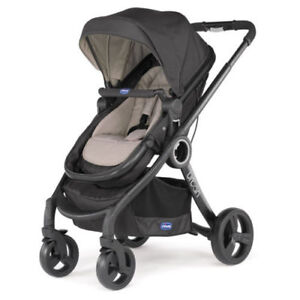 CHICCO Urban Plus Baby Stroller, Black/Grey, very good condition