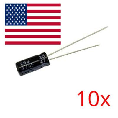 10pcs 47uf 25v Electrolytic Capacitors