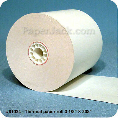 61024 Thermal Paper Rolls 3 18 X 308 - Case Of 50 Rolls