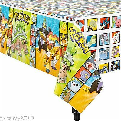 POKEMON Diamond and Pearl PLASTIC TABLE COVER ~ Birthday Party Supplies Decorate - Pokemon Table