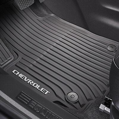 2018 Chevrolet Equinox Genuine GM Front All Weather Floor Mats Black 84215239