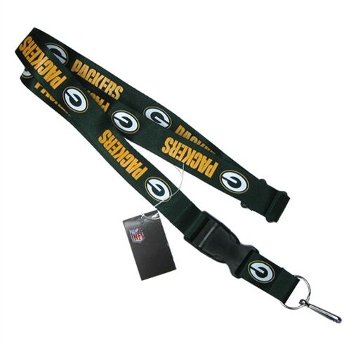 Packers-Green-Licensed-NFL-Keychain-ID-Holder-Detachable-Lanyard-Brand-New