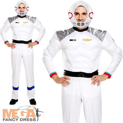 Sci-fi Outfit (Spaceman Mens Fancy Dress Astronaut Space Uniform Sci Fi Adults Costume Outfit)