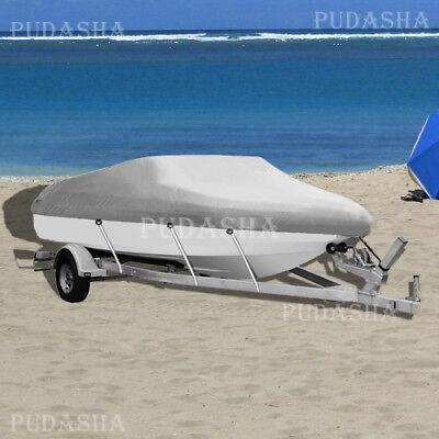 17 18 19 ft Trailerable Fishing Ski Bass Boat Cover Waterproof Marine Blue PBT2G
