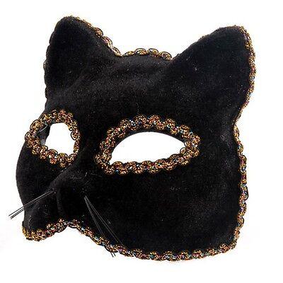 Schwarzer Panther Halbschuhe Maskenball-Maske Katze Halloween Augenmaske für