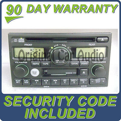HONDA Odyssey Radio Tape Cassette CD Player for Rear Entertainment DVD Controls (Dvd Players For Cassette Players)