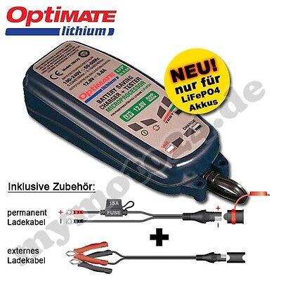 Batterieladegerät Tecmate OptiMate lithium 0.8A, speziell für LiFePO4 Akkus