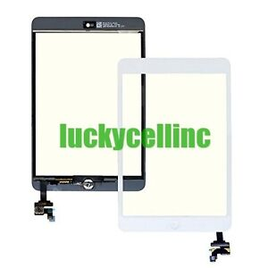 For Ipad Mini Touch Glass Digitizer Screen IC Connector Chip + Home Button White