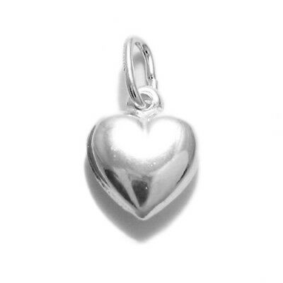 925 Sterling Silver Small Puffed Heart Charm
