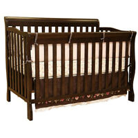 Kidiway 4-in-1 Convertible Crib + Safety 1st 2-in-1 Mattress