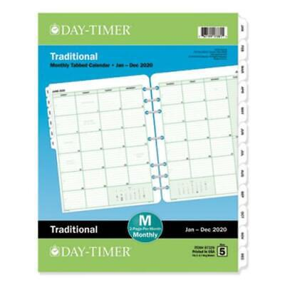 Day-timer 87329 Monthly Classic Refill 8 12 X 11 Whitegreen 2019