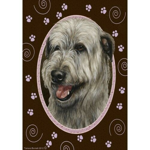 Paws House Flag - Grey Irish Wolfhound 17329