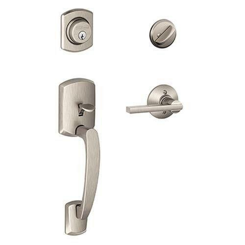 Schlage handleset doors door hardware ebay for Exterior door handles