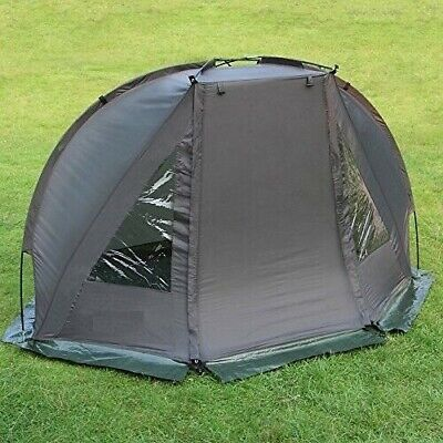 CARP FISHING 1 MAN BIVVY TENT WATERPROOF GREEN DAY SHELTER WITH PEGS GROUNSHEET