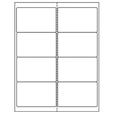 800 100 Sheets Laser Inkjet Labels 2 12 X 4 8 Labelssheet