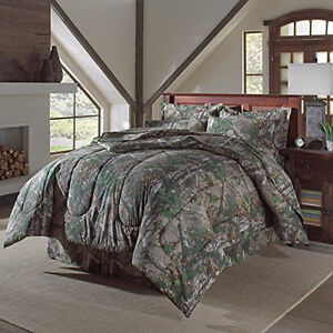 Realtree-Xtra-Green-Camo-Camouflage-Sheet-Set-Comforter-sold-separately-QUEEN