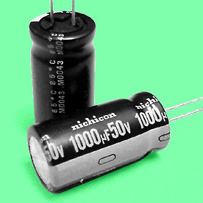 8 1000 F 50 Volt Electrolytic Capacitors