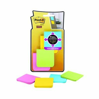 "Post-it Super Sticky Full Adhesive Notes - Self-adhesive, Removable - 2"" X 2"" -"