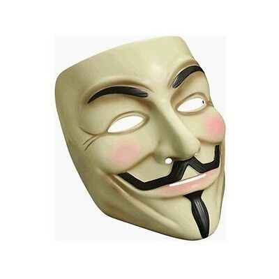 High Quality Guy Fawkes Mask (Party Masks New Demonstration Vendetta Guy Fawkes Rubies High Quality DC)