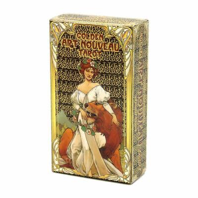 Golden Art Nouveau Tarot Card Rider Waite Divination Board Party Game Gift 78