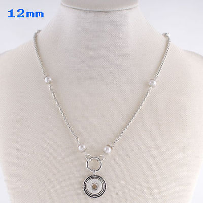 Fits Ginger Snaps MINI SNAP NECKLACE Silver Petite 12mm Interchangeable Jewelry