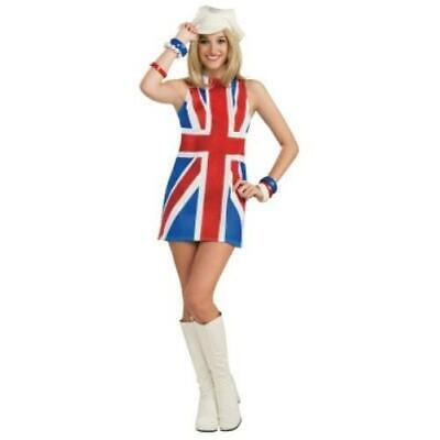 1990's fancy dress ginger spice Union Jack  Ladies Fancy Dress Costume - Ginger Spice Halloween