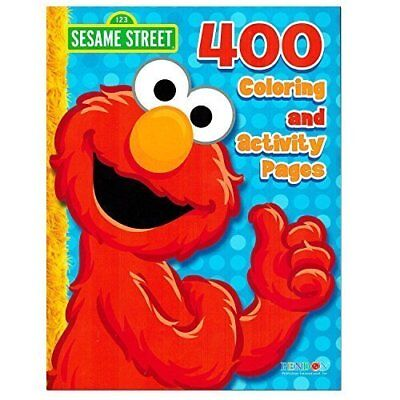 Sesame Street Elmo Coloring Book Jumbo 400 Pages -- Featuring Elmo, Cookie