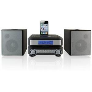 NEW 2014 iLive Shelf Compact CD Player Stereo Home Music System iPhone/iPod Dock
