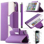 Leather Wallet Case for Apple iPhone 4