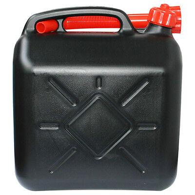 10l Liter Diesel-/ Benzinkanister Kraftstoffkanister schwarz UN-geprüft #159609