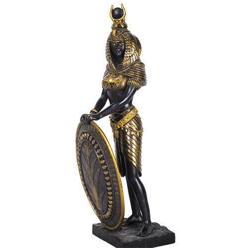 PTC 11 Inch Isis with Shield Egyptian Mythological Goddess Statue Figurine
