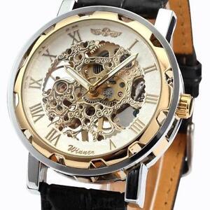 mens skeleton watch skeleton mens mechanical wrist watch